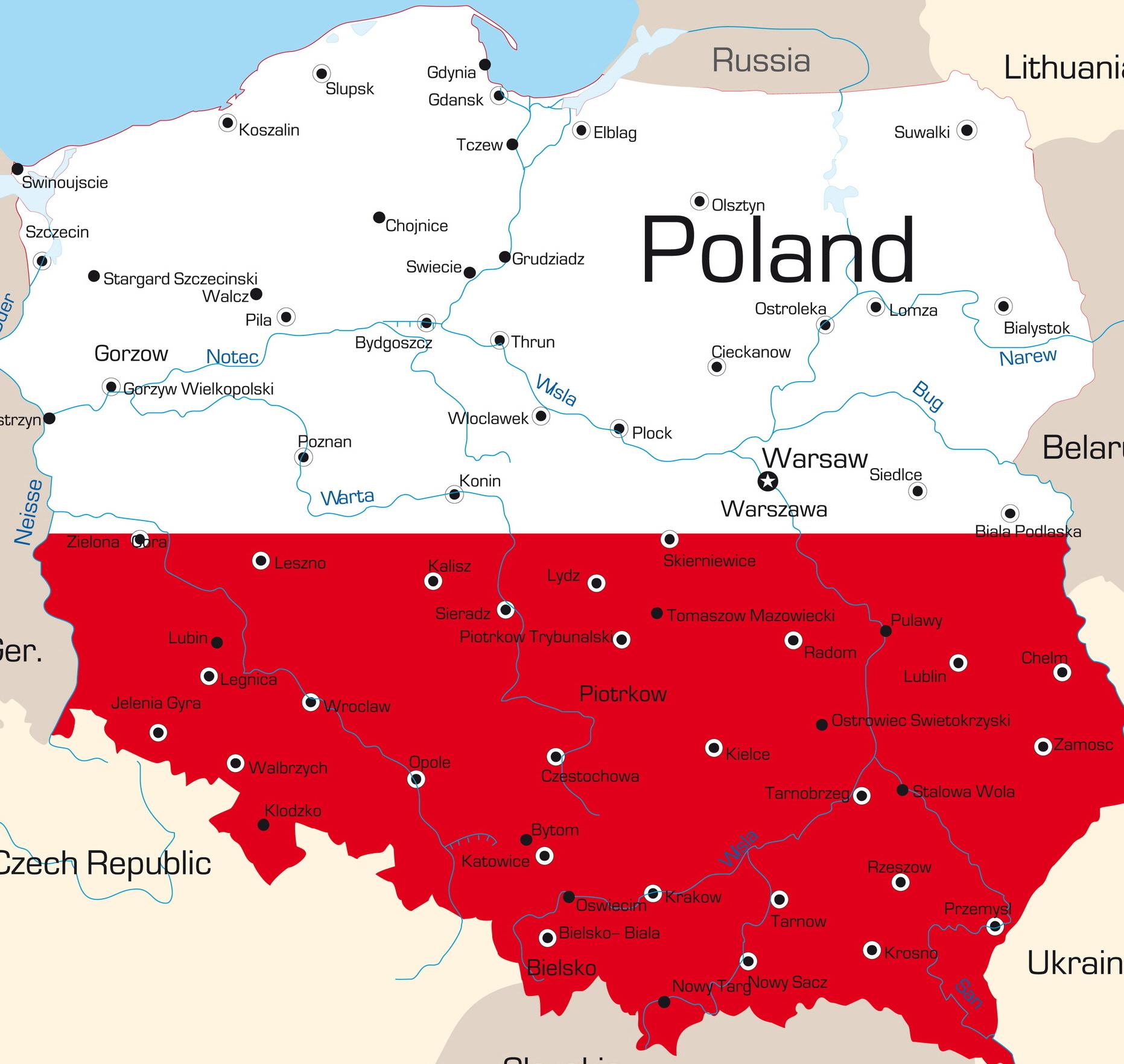 polnische landkarte Polen Karte ~ Online Map polnische landkarte